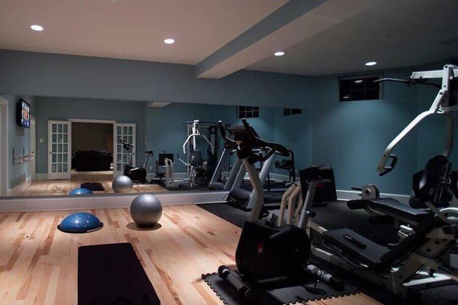 Basement gym in Toronto