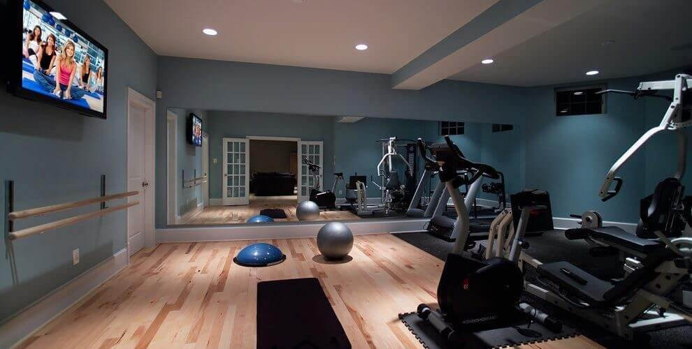 Home Gym Design: Basement Gym. Workout & Crossfit Room Design Ideas