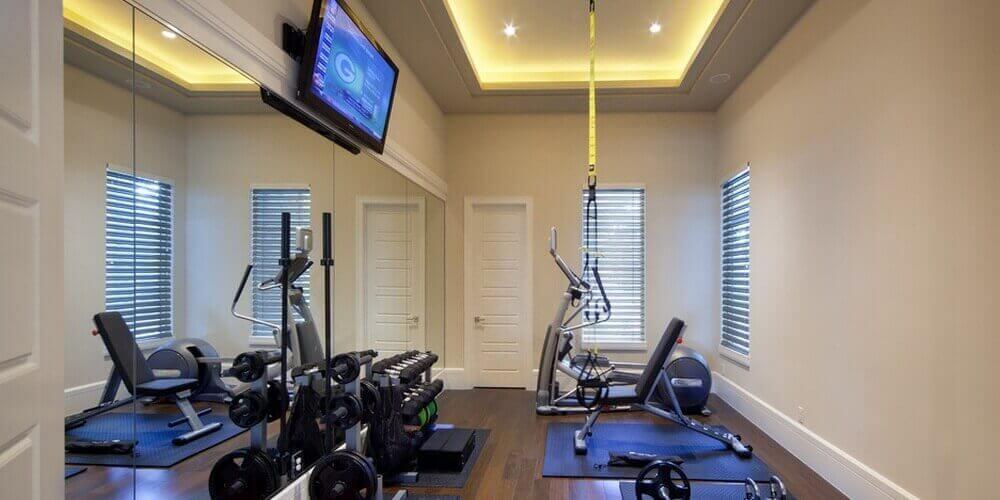 Basement gym. workout & crossfit room design ideas