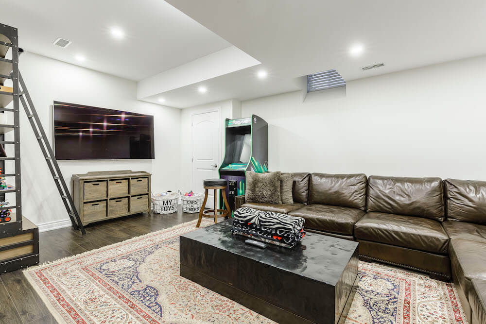 Basement Family Room Ideas Colors Design Ideas For Small Large
